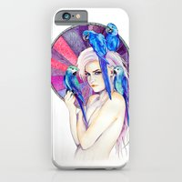 iPhone & iPod Case featuring Girl with Parrots by Slaveika Aladjova