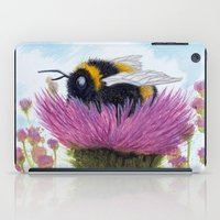 Bumblebee on a Thistle iPad Case