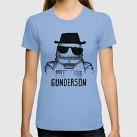 gunderson Womens Fitted Tee Tri-Blue SMALL