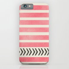 PINK STRIPES AND ARROWS iPhone 6 Slim Case