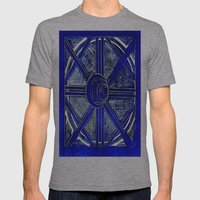 Blue Mens Fitted Tee Athletic Grey SMALL