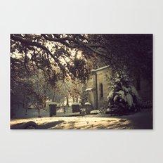 nieve en urkiola Canvas Print