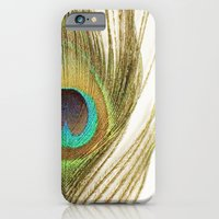 iPhone & iPod Case featuring Peacock Feather by Kimberly Blok