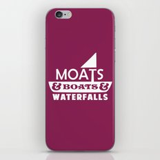 Moats and Boats and Waterfalls Graphic iPhone & iPod Skin