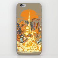 Smash! Zap!! Zooom!! - Butt-Chinned Captain iPhone & iPod Skin