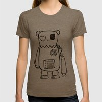 Robo Bear Womens Fitted Tee Tri-Coffee SMALL