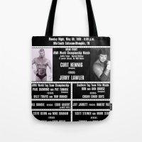 #13B Memphis Wrestling Window Card Tote Bag