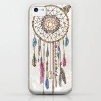 iPhone 5c Cases featuring Lakota (Dream Catcher) by Rachel Caldwell
