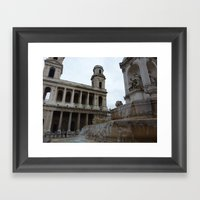 Parisian Fountain Framed Art Print