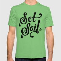 Set Sail Mens Fitted Tee Grass SMALL