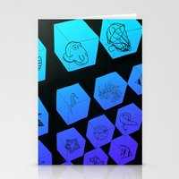 Sea Creature Cubes Stationery Cards