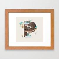 Resort Type - Letter P Framed Art Print