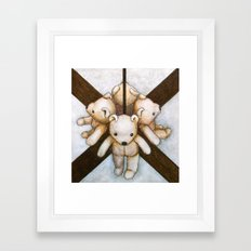 MIRROR BEAR Framed Art Print