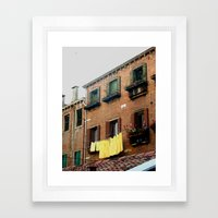 Laundry Framed Art Print