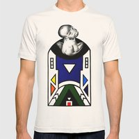 NDEBELE Mens Fitted Tee Natural SMALL