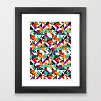 Aztec Geometric VI Framed Art Print