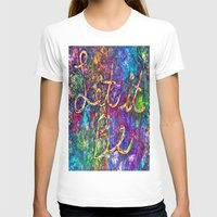 Let It Be Womens Fitted Tee White SMALL
