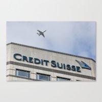 Credit Suisse Cabot Square  Canvas Print