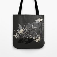 Octopus Wrestling With A… Tote Bag