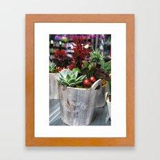 Green style. Framed Art Print