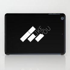 I Like You Graphik: White Type iPad Case
