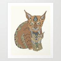 Wild Cats Love Art Print