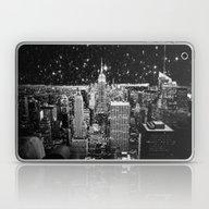 Starry Night In New York Laptop & iPad Skin