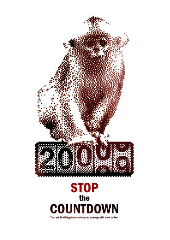 Save Golden Monkeys Art Print