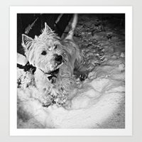 This Is Snow More Fun Art Print