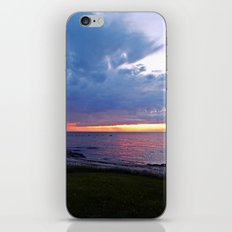 Sunset at Sea and the Rain Storm iPhone & iPod Skin