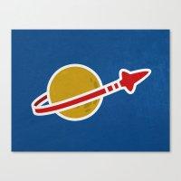 Blue Spaceman Canvas Print