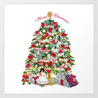 Underneath The Christmas… Art Print
