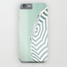 Parasol - Summer Beach Blue Stripes Photography iPhone 6 Slim Case