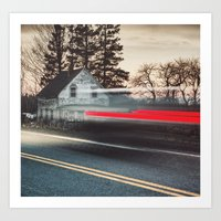 The Blurred Past Art Print
