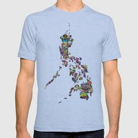 7,107 Islands   A Map Of… Mens Fitted Tee Athletic Blue SMALL