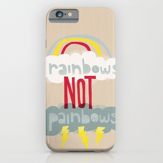 RAINBOWS NOT PAINBOWS iPhone & iPod Case