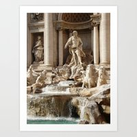 Rome, Italy. Trevi Fountain. Art Print
