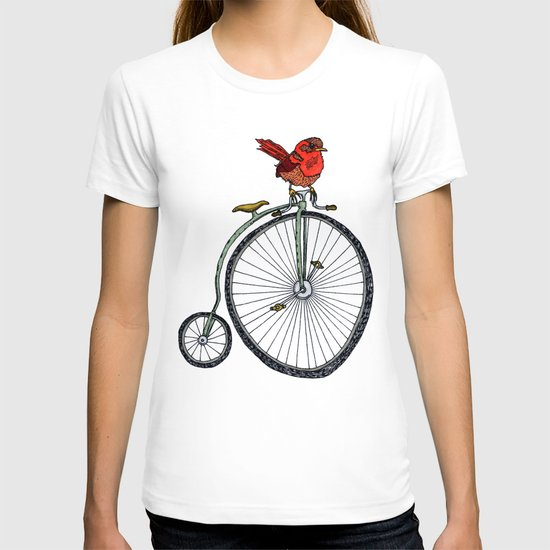 bird on a bicycle. T-shirt