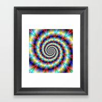 Psychedelic Twist Framed Art Print