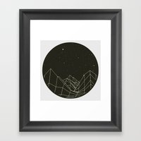 Night circles Framed Art Print