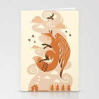Stationery Card featuring The Flying Fox's First Flight by Don Lim