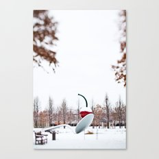 snow spoon & cherry Canvas Print