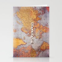 Adventure Map Stationery Cards