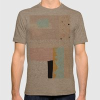 On the wall#3 Mens Fitted Tee Tri-Coffee SMALL