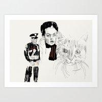 Lovely faces Art Print