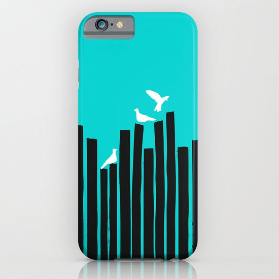Birds on the fence iPhone & iPod Case