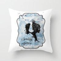 A Beautiful Nightmare Throw Pillow