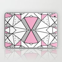 Abstract Spots and Stripes Pink Laptop & iPad Skin