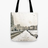 Yosemite Snowy Meadow Tote Bag