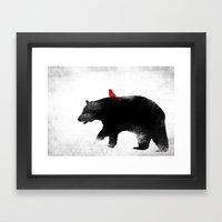 Bear and Bird Art Framed Art Print